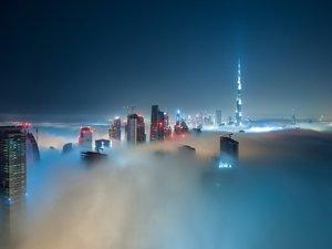 安卓风景 城市 雾手机壁纸