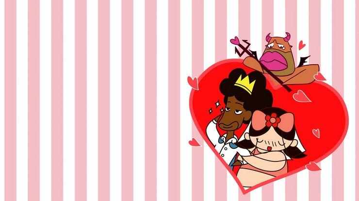 安卓爱情美图 浪漫手绘 情侣 恩爱手机壁纸