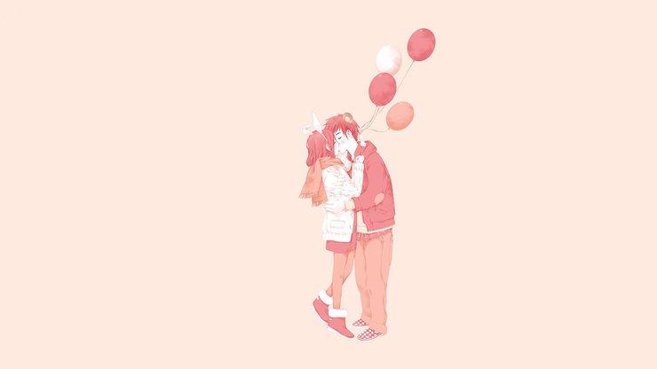 安卓爱情 浪漫手绘 温馨 甜蜜 情侣 浪漫手机壁纸