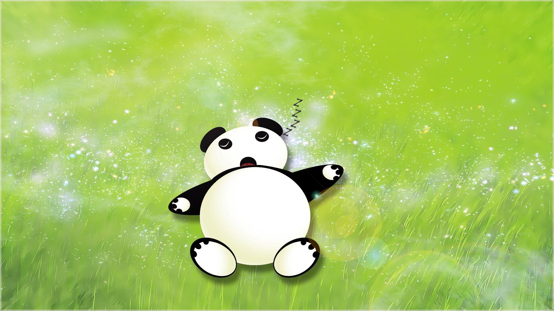 手机壁纸可爱简约熊猫