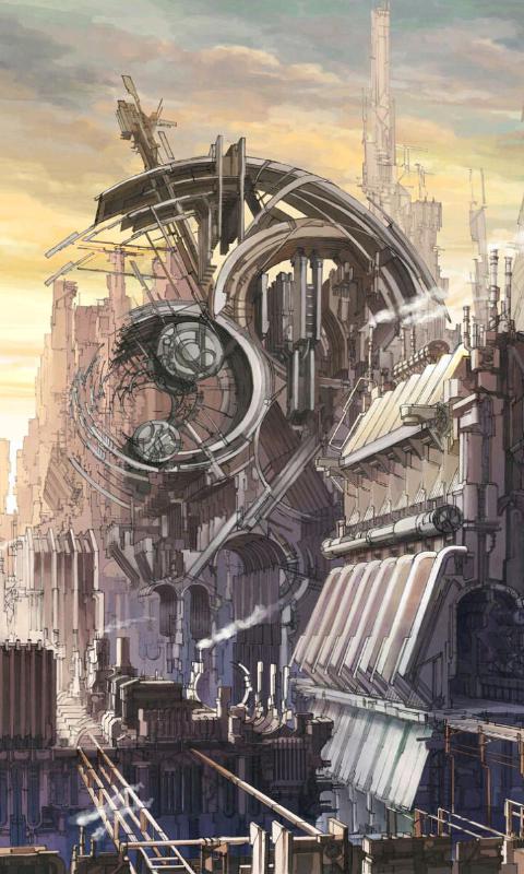 未来都市-绿豆动态壁纸