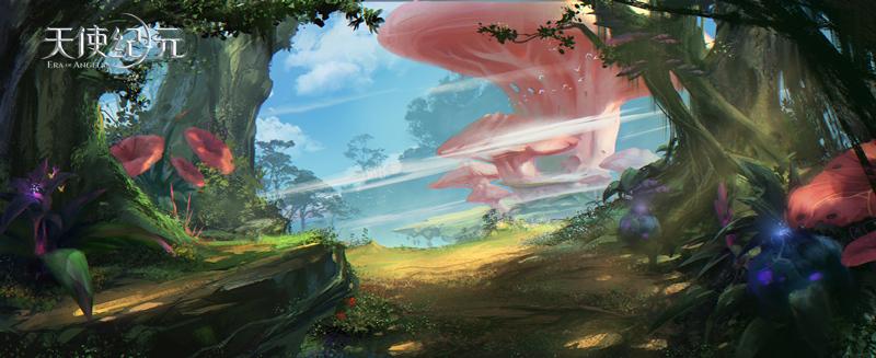 《天使纪元》场景秘月森林