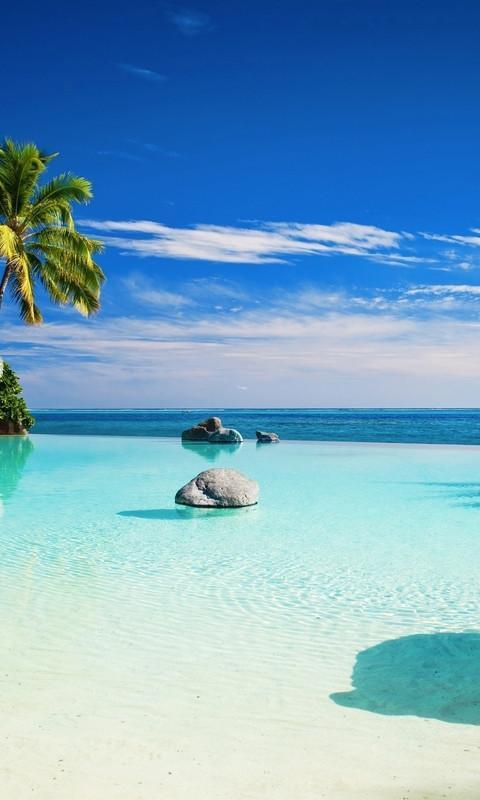 美丽的蓝色风景高清动态壁纸 1.
