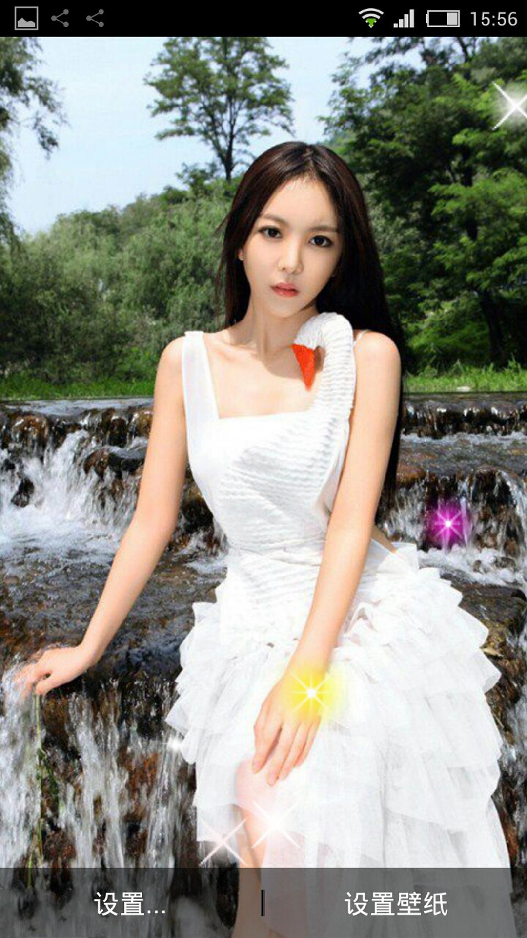 长裙可爱美女动态壁纸下载