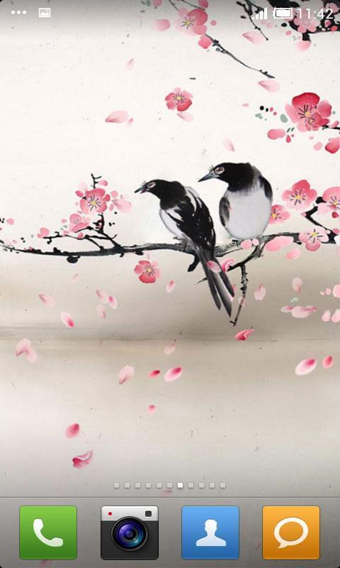 手绘中国风黑白名片psd图片下载 手绘 中国风 黑白